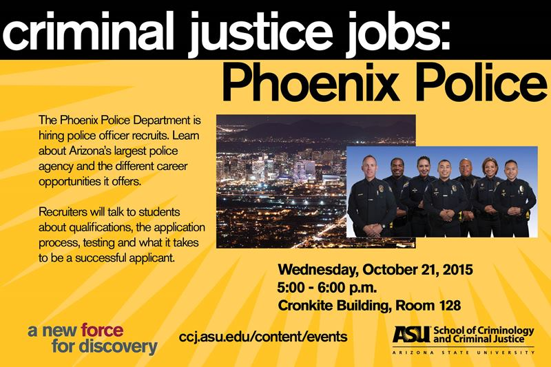 Criminal Justice Jobs Phoenix Police School Of