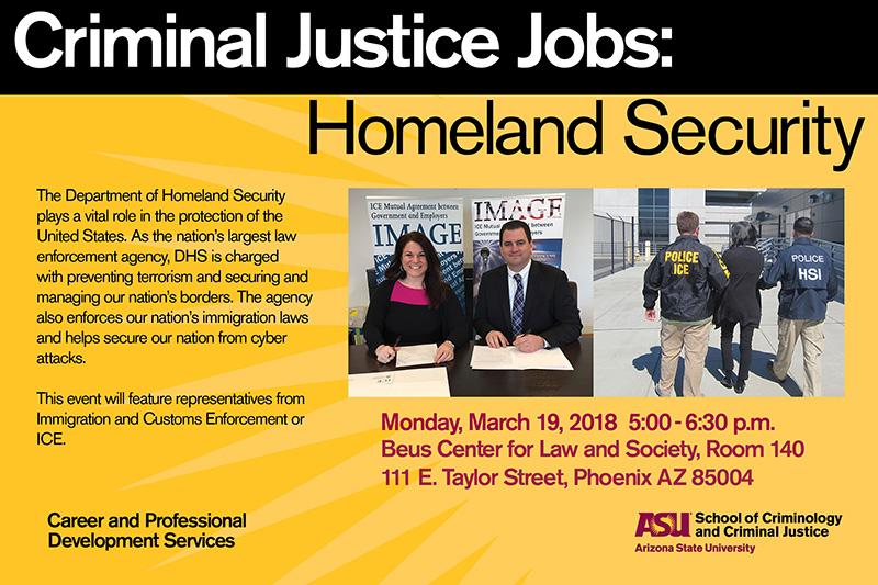 Criminal Justice Jobs: Homeland Security  School of Criminology and Criminal Justice